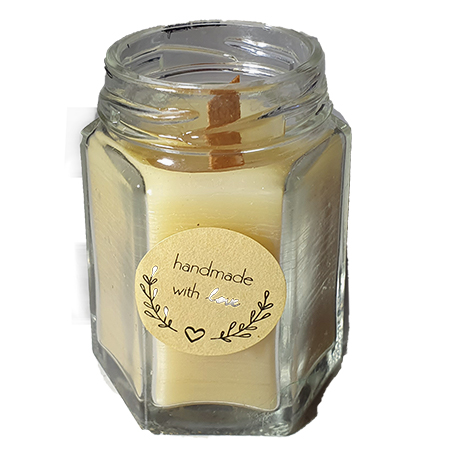 pure beeswax candle - in a honey jar