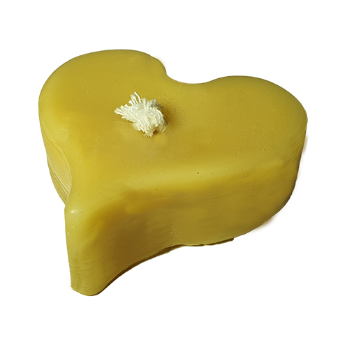 pure beeswax candle - heart shaped