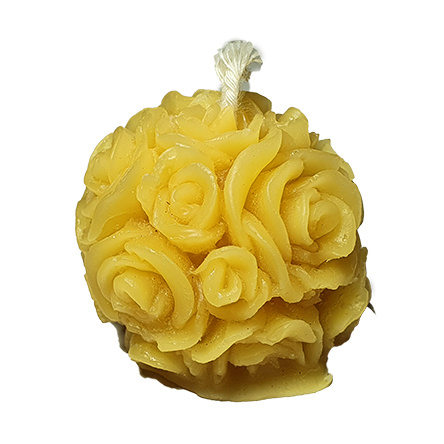 pure beeswax candle - rose ball