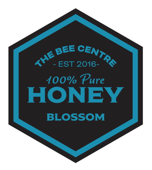 Blossom honey label - Pure, raw Lancashire honey from The Bee Centre