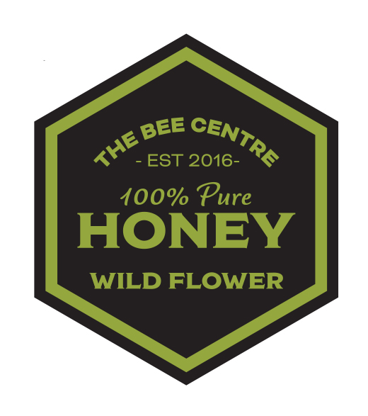 Wildflower honey label - Pure, raw Lancashire honey from The Bee Centre