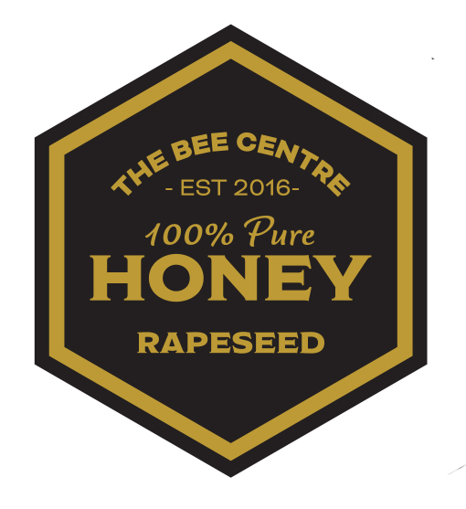 Rapeseed honey label - Pure, raw Lancashire honey from The Bee Centre