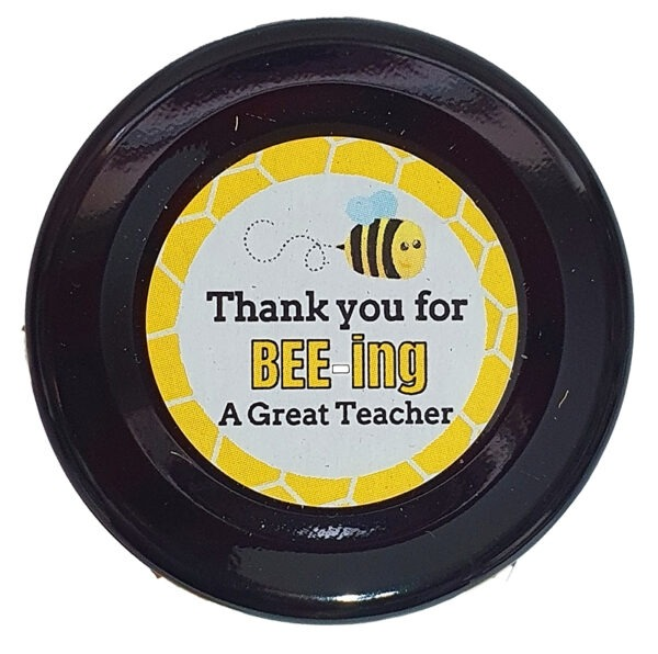 Thank You for Bee-ing a great teacher lid label