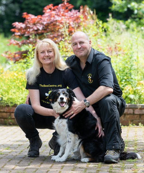 Simon and Kath Cordingley (and Roxy) - beekeepers at The Bee Centre